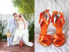 Bold & Bright Colored Wedding Shoes