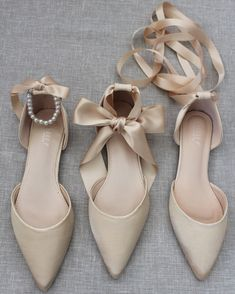Champagne-Colored Wedding Shoes