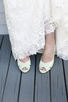 Pastel-Colored Wedding Shoes